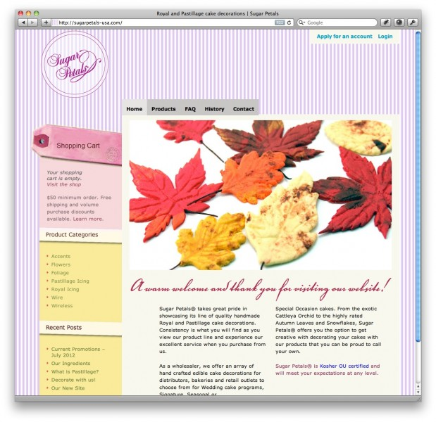 sugarpetals ecommerce 619x600 Crafty Cart WPEC theme